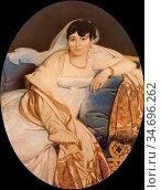 Ingres Jean Auguste Dominique - Madame Philibert Rivière 1 - French... Редакционное фото, фотограф Artepics / age Fotostock / Фотобанк Лори