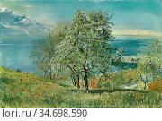 Inchbold John William - the Lake of Geneva - British School - 19th... Редакционное фото, фотограф Artepics / age Fotostock / Фотобанк Лори