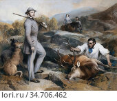 Landseer, sir edwin henry - Death of the Royal Stag with the Queen... Редакционное фото, фотограф Artepics / age Fotostock / Фотобанк Лори