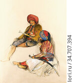 Lewis John Frederick - Albanian Guards in Bursa Turkey - British ... Редакционное фото, фотограф Artepics / age Fotostock / Фотобанк Лори