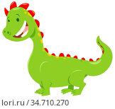 Cartoon Illustration of Cute Dragon Fantasy Animal Character. Стоковое фото, фотограф Zoonar.com/Igor Zakowski / easy Fotostock / Фотобанк Лори