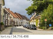 Fachwerk in der Altstadt von Arneburg, Landkreis Stendal, Sachsen... Стоковое фото, фотограф Peter Schickert / age Fotostock / Фотобанк Лори