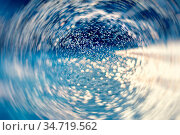 Radial blurred water background. Soft focus bokeh light effects over... Стоковое фото, фотограф Zoonar.com/Arthur Mustafa / easy Fotostock / Фотобанк Лори
