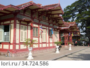 Hua Hin Railway Station Thailand. Стоковое фото, фотограф Andrew Woodley / age Fotostock / Фотобанк Лори