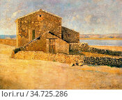 Maillol Aristide - Maison En Roussillon - French School - 19th and... Стоковое фото, фотограф Artepics / age Fotostock / Фотобанк Лори
