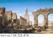 Marilhat Prosper - Ruines De La Mosquee Du Calife Hakem Au Caire - ... Стоковое фото, фотограф Artepics / age Fotostock / Фотобанк Лори