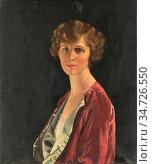 Orpen Sir William - Mrs Diego Suarez - British School - 19th Century. Редакционное фото, фотограф Artepics / age Fotostock / Фотобанк Лори