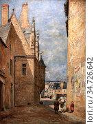 Monziès Louis - La Maison Saint-Paul (Ou Maison a La Tourelle) Rue... Стоковое фото, фотограф Artepics / age Fotostock / Фотобанк Лори