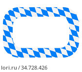 Bayerische Fahne als Rahmen - Bavarian flag as quadrat on white. Стоковое фото, фотограф Zoonar.com/lantapix / easy Fotostock / Фотобанк Лори