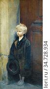 Pelez Fernand - Petit Misère (Mendiant Au Chapeau) - French School... Стоковое фото, фотограф Artepics / age Fotostock / Фотобанк Лори