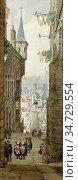 Rayner Louise - an Old Town Close Edinburgh 2 - British School - ... Редакционное фото, фотограф Artepics / age Fotostock / Фотобанк Лори
