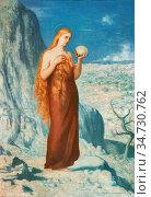 Puvis De Chavannes Pierre - Mary Magdalene at Saint Baume (Skull) - ... Стоковое фото, фотограф Artepics / age Fotostock / Фотобанк Лори