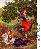 Rooke Thomas Matthews - Autumn's Pipe - British School - 19th Century. Редакционное фото, фотограф Artepics / age Fotostock / Фотобанк Лори