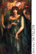 Rossetti Dante Gabriel - Astarte Syriaca 2 - British School - 19th... Редакционное фото, фотограф Artepics / age Fotostock / Фотобанк Лори