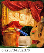 Rossetti Dante Gabriel - Bottles - British School - 19th Century. Редакционное фото, фотограф Artepics / age Fotostock / Фотобанк Лори