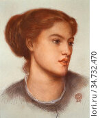 Rossetti Dante Gabriel - Ellen Smith - British School - 19th Century. Редакционное фото, фотограф Artepics / age Fotostock / Фотобанк Лори