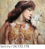 Rochegrosse Georges Antoine - Sarah Bernhardt Dans Le Rôle De CLéopâtre... Стоковое фото, фотограф Artepics / age Fotostock / Фотобанк Лори