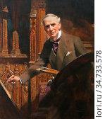Salisbury Frank Owen - Self Portrait - British School - 19th Century. Редакционное фото, фотограф Artepics / age Fotostock / Фотобанк Лори