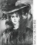 Sargent John Singer - Baroness De Meyer - British School - 19th Century... Редакционное фото, фотограф Artepics / age Fotostock / Фотобанк Лори