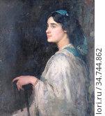 Wilson David Forrester - Portrait of a Young Lady - British School... Редакционное фото, фотограф Artepics / age Fotostock / Фотобанк Лори