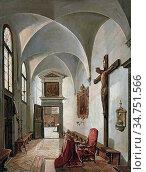 Vervloet Frans - Un Cardinal En Prière Dans Lâ.église Saint-Sébastien... Редакционное фото, фотограф Artepics / age Fotostock / Фотобанк Лори
