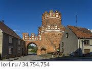 Das historische Elbtor in der Hansestadt Werben, Sachsen-Anhalt, ... Стоковое фото, фотограф Peter Schickert / age Fotostock / Фотобанк Лори