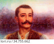 Levy-Dhurmer Lucien - Portrait of Pierre Loti 'ghost of the Orient... Редакционное фото, фотограф Artepics / age Fotostock / Фотобанк Лори