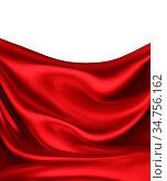 Waves of red silk as background. Стоковое фото, фотограф Zoonar.com/Zoya Fedorova / easy Fotostock / Фотобанк Лори