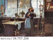 Nagy Sándor - Blessed Condition - Hungarian School - 19th Century. Стоковое фото, фотограф Artepics / age Fotostock / Фотобанк Лори