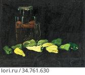 Pentelei-Molnar Janos - Grüne Paprika - Hungarian School - 19th Century... Редакционное фото, фотограф Artepics / age Fotostock / Фотобанк Лори
