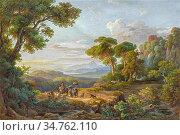 Markó II Károly - Weite Landschaft Mit Schafhirten - Hungarian School... (2020 год). Редакционное фото, фотограф Artepics / age Fotostock / Фотобанк Лори