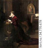 Adam Patrick William - Mary Queen of Scots at Prayer - British School... Стоковое фото, фотограф Artepics / age Fotostock / Фотобанк Лори