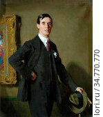 Aiken John Macdonald - Portrait of Harry Townend - British School... Стоковое фото, фотограф Artepics / age Fotostock / Фотобанк Лори