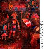 Art, Paul Klee 1879-1940, title of the work, Carnival in the village... Стоковое фото, фотограф Molteni&Motta / age Fotostock / Фотобанк Лори