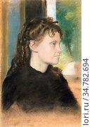 Degas Edgar - Madame Théodore Gobillard (Yves Morisot) 1869 2 - French... Стоковое фото, фотограф Artepics / age Fotostock / Фотобанк Лори