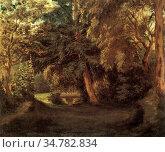 Delacroix Eugène - Der Garten Von George Sand in Nohant - French ... Стоковое фото, фотограф Artepics / age Fotostock / Фотобанк Лори