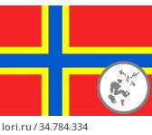 Fahne und Landkarte der Orkney Inseln - Flag and map of Orkney. Стоковое фото, фотограф Zoonar.com/lantapix / easy Fotostock / Фотобанк Лори
