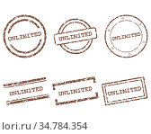 Unlimited Stempel - Unlimited stamps. Стоковое фото, фотограф Zoonar.com/Robert Biedermann / easy Fotostock / Фотобанк Лори