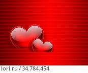 Romantic background with red hearts. Стоковое фото, фотограф Zoonar.com/Zoya Fedorova / easy Fotostock / Фотобанк Лори