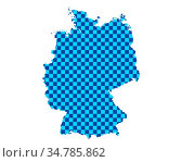 Karte von Deutschland in Schachbrettmuster - Map of Germany in checkerboard... Стоковое фото, фотограф Zoonar.com/lantapix / easy Fotostock / Фотобанк Лори