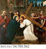 Prynne Edward Arthur Fellowes - Jesus Meets His Mother - British ... Редакционное фото, фотограф Artepics / age Fotostock / Фотобанк Лори