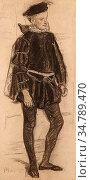 Mellery Xavier - Le Jeune Henry III - Belgian School - 19th Century. Редакционное фото, фотограф Artepics / age Fotostock / Фотобанк Лори