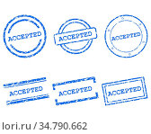 Accepted Stempel - Accepted stamps. Стоковое фото, фотограф Zoonar.com/Robert Biedermann / easy Fotostock / Фотобанк Лори