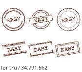 Easy Stempel - Easy stamps. Стоковое фото, фотограф Zoonar.com/Robert Biedermann / easy Fotostock / Фотобанк Лори