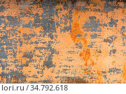 Textured background of a faded yellow paint with rusted cracks on... Стоковое фото, фотограф Zoonar.com/Ian Iankovskii / easy Fotostock / Фотобанк Лори