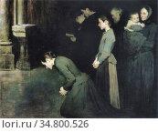 Geoffroy Henri Jules Jean - La Prière Des Humbles - French School... Стоковое фото, фотограф Artepics / age Fotostock / Фотобанк Лори