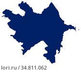 Karte von Aserbaidschan in blauer Farbe - Map of Azerbaijan in blue... Стоковое фото, фотограф Zoonar.com/lantapix / easy Fotostock / Фотобанк Лори