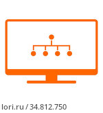 Netzwerk und Monitor - Network and screen. Стоковое фото, фотограф Zoonar.com/Robert Biedermann / easy Fotostock / Фотобанк Лори