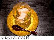 Japanese Cream cheese tofu Groumet starter. Стоковое фото, фотограф Zoonar.com/Vichie81 / easy Fotostock / Фотобанк Лори
