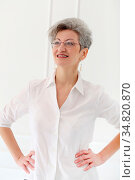 Lifestyle. Cute, elderly woman with happy face. Стоковое фото, фотограф Zoonar.com/Yeko Photo Studio / easy Fotostock / Фотобанк Лори